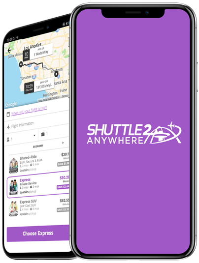 Prime Time Shuttle App on Smart Phone